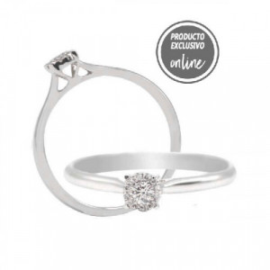 Anillo de oro blanco de 18 quilates y diamantes - 247-00947