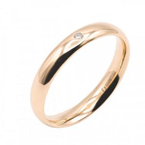 Aliança or rosa i diamant - 26199/35/OR/B