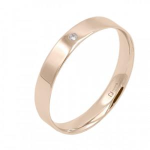 Aliança or rosa i diamant - 3510/OR/B