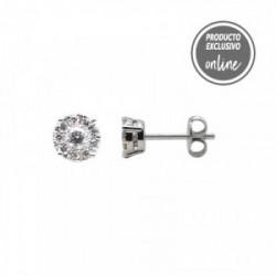 Pendientes de oro blanco de 18 quilates y diamantes - 470-00021