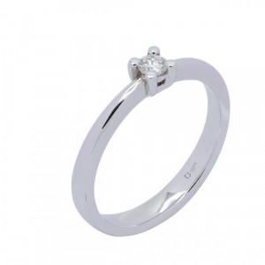 Solitario oro blanco y diamante 0,11 ct. - 14049 B11