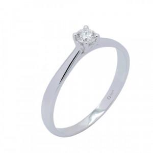 Solitario oro blanco y diamante 0,15 cts - A30-6976
