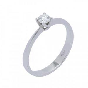 Solitario oro blanco y diamante 0,10 cts. - 358112