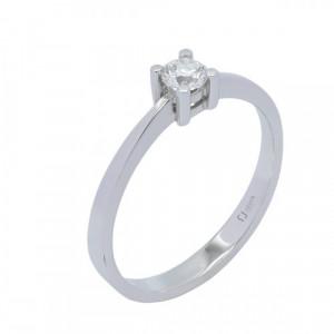 Solitario oro blanco y diamante 0,10 cts. - 319012