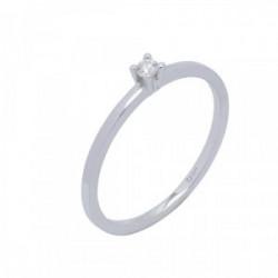 Solitario oro blanco y diamante 0,055 cts - 364212
