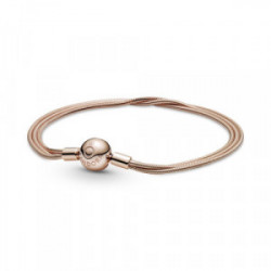 Pulsera Pandora Moments en Pandora Rose Multi Cadena de Serpiente - 589338C00-18