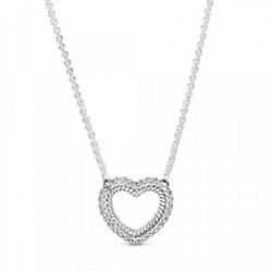 Collar Cadena Serpiente y Corazón - 399110C01-45