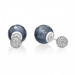 Pendientes Gotas Brillantes Azul Medianoche - 296355NBC