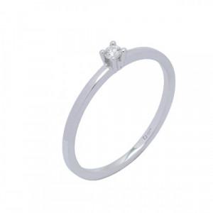 Solitario oro blanco y diamante 0,11 cts - 364312
