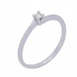 Solitario oro blanco y diamante 0,05 cts - 363812