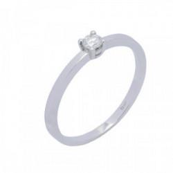 Solitario oro blanco y diamantes 0,065 cts - BR1708-1S