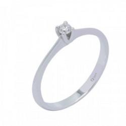 Solitario oro blanco y diamante 0,09 cts - AA 003067 09