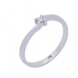 Solitario oro blanco y diamante 0,06 cts - AN0181