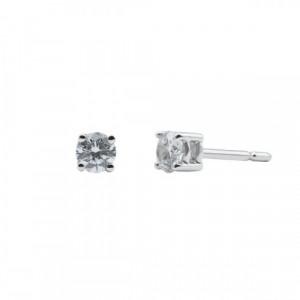 Pendientes oro blanco y diamantes VS 0,32 cts - BB S07333 32