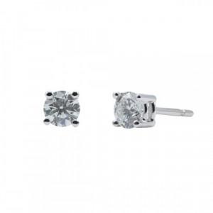 Pendientes Oro Blanco y Diamantes VS 0,70 cts - BB S07333 70
