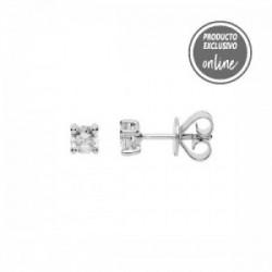 Pendientes de oro blanco y diamante - 488-00113