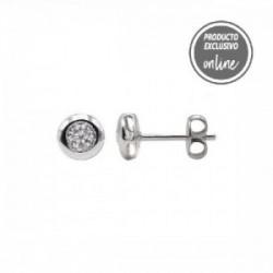 Pendientes de oro blanco y diamante - 488-00119