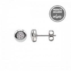 Pendientes de oro blanco y diamante - 488-00120