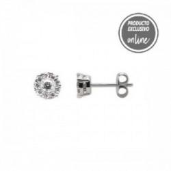 Pendientes de oro blanco y diamantes - 470-00015