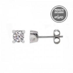 Arracades d´or blanc de 18 quirats i diamant - 377-00227