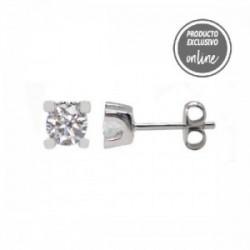 Pendientes de oro blanco de 18 quilates y diamante - 377-00228
