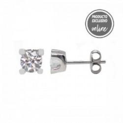 Pendientes de oro blanco y diamante - 377-00230