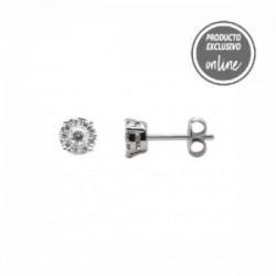Pendientes de oro blanco y diamante - 470-00066