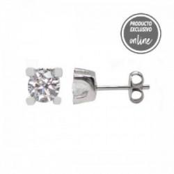 Pendientes de oro blanco y diamante - 377-00232