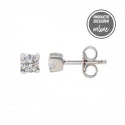 Pendientes de oro blanco de 18 quilates y diamante - 539-00057