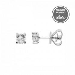 Pendientes de oro blanco y diamante - 488-00434
