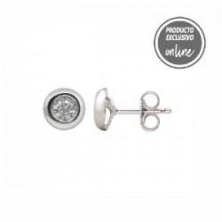 Pendientes de oro blanco y diamante - 539-00011