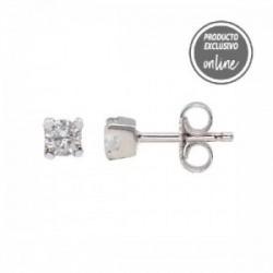 Pendientes de oro blanco y diamante - 539-00032
