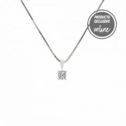 Colgante de oro blanco y diamante - 377-00314