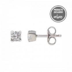 Pendientes de oro blanco y diamante - 539-00033