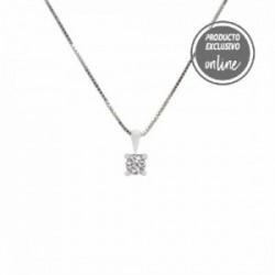 Colgante de oro blanco y diamante - 377-00315