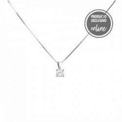 Colgante de oro blanco y diamante - 488-00099