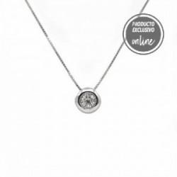 Colgante de oro blanco y diamante - 488-00104