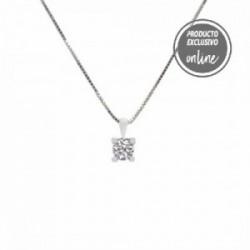 Colgante de oro blanco y diamante - 377-00318