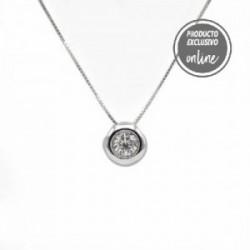 Colgante de oro blanco y diamante - 488-00106