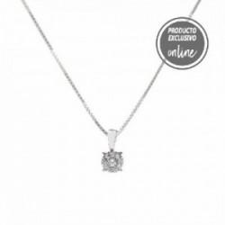 Penjoll d´or blanc de 18 quirats i diamants - 470-00025