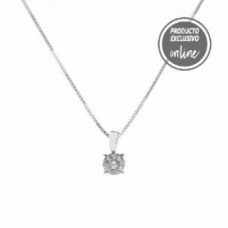Colgante de oro blanco y diamantes - 470-00025