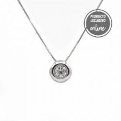Penjoll d´or blanc de 18 quirats i diamant - 488-00107
