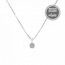 Colgante de oro blanco y diamantes - 470-00038