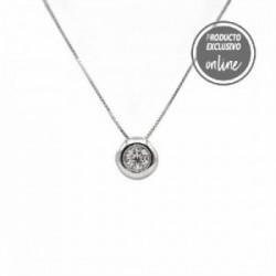 Colgante de oro blanco de 18 quilates y diamante - 488-00109