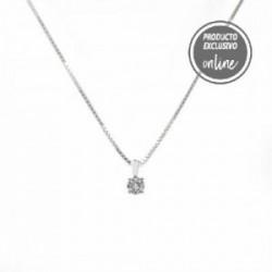 Colgante de oro blanco y diamantes - 470-00076