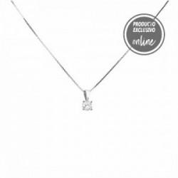 Colgante de oro blanco y diamante - 488-00096