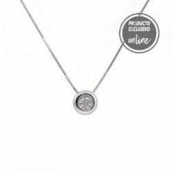 Colgante de oro blanco de 18 quilates y diamante - 539-00019