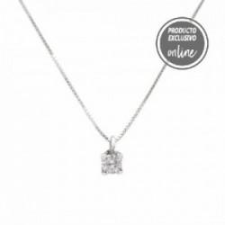Colgante de oro blanco y diamante con cadena - 539-00036