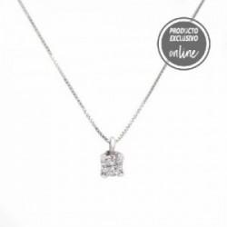 Colgante de oro blanco y diamante con cadena - 539-00038