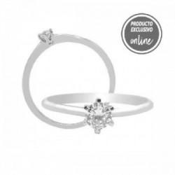 Solitario de oro blanco de 18 quilates y diamante - 317-01303